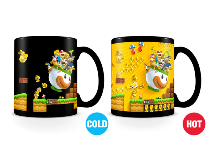 Image result for Nintendo super mario gold Coin rush heat changing mug