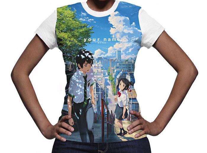 Your Name Womens Full Print T Shirt Kimi No Na Wa Your Name