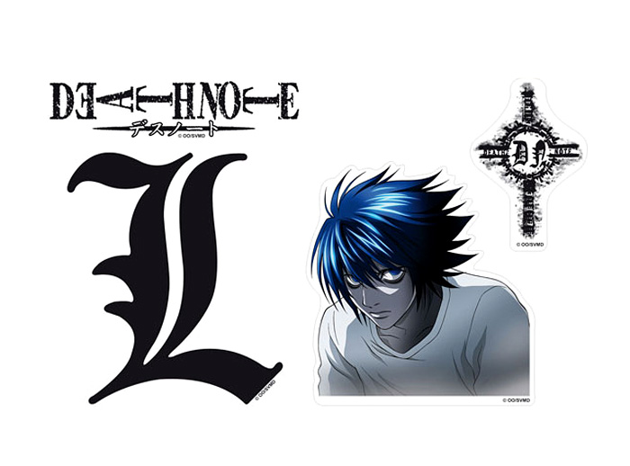 L Symbols Stickers Death Note Otakustore
